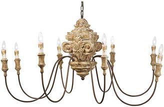 8-Light Wood Carved Chandelier - Gold - Regina Andrew