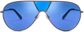 Tory Burch Full-Bridge Pilot Sunglasses