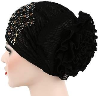 22e2af0ff3c at Amazon Canada · Cloche Telamee Girls Chemo Turbans Chemo Headband Pleat  Indian Cap Band Head Wraps