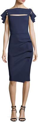 Chiara Boni Stanica Florian Skirt Tiered Short-Sleeve Cocktail Dress