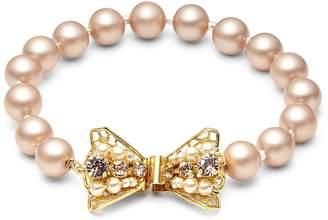 Miriam Haskell Women's 8MM Faux Pearl Bow Bracelet