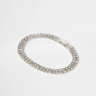 River Island Womens Silver tone rhinestone bracelet