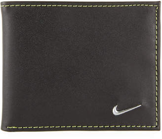 Nike Men's Colorblock Leather Billfold Wallet, Yellow/Black