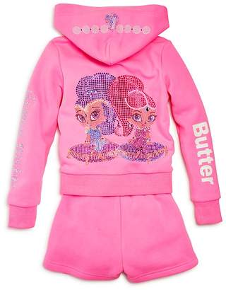 Butter Shoes x Nickelodeon Girls' Shimmer and Shine© Embellished Fleece Hoodie & Shorts Set, Little Kid - 100% Exclusive