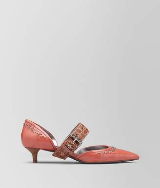 Bottega Veneta Hibiscus Calf D'orsay Kitten Heel