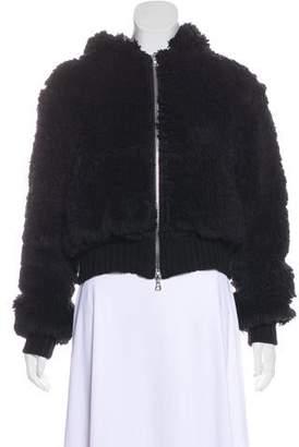 Amiri Faux Fur Hooded Jacket