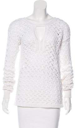 Diane von Furstenberg Open Knit Long Sleeve Sweater