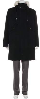 Christian Dior Fur-Trimmed Fishtail Coat