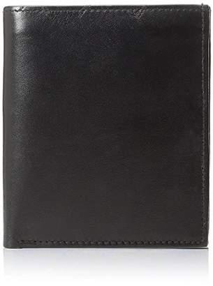 Improving Lifestyles SUN 5101 BK Men's Big Hipster Bifold Leather Wallet Organza Gift Bag