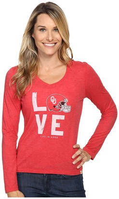 Life is good Love Long Sleeve Tee $36 thestylecure.com