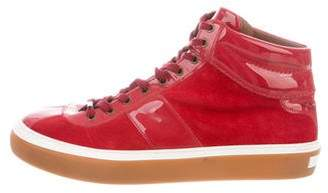 Jimmy Choo Suede High-Top Sneakers