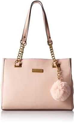 Anne Klein Luxury Chain Tote with Pom Pom Tote Bag