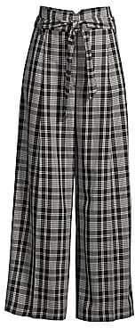 Max Mara Women's Cina Plaid Wide Leg Trousers