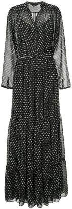 Saloni polka dot print maxi dress
