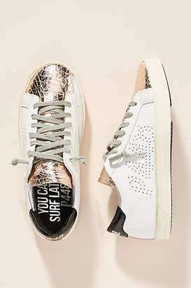 P448 Metallic Toe Low-Top Sneakers