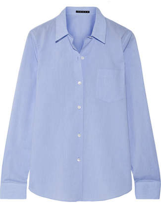 Theory - Perfect Cotton Shirt - Light blue $260 thestylecure.com