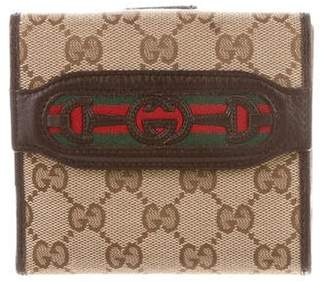 Gucci GG Web Compact French Wallet