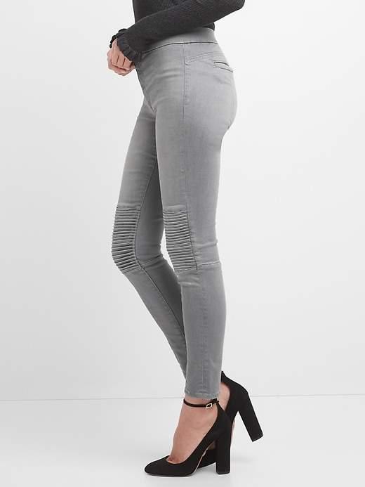 Mid rise Sculpt moto true skinny jeans