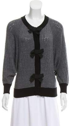 Andrew Gn Bow-Accented Knit Cardigan