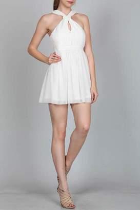 Ark & Co White Halter Dress