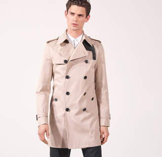 Sandro Trench coat with leather details