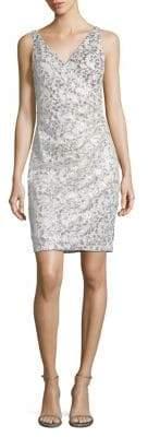 Vince Camuto Sequin Embellished Sheath Dress