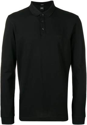 HUGO BOSS long sleeved polo shirt