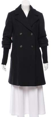 Closed Wool Double-Breasted Coat