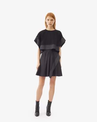 3.1 Phillip Lim Poplin Crop Top Overlay Dress