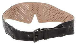 Alaà ̄a Laser Cut Leather Belt Black Alaà ̄a Laser Cut Leather Belt