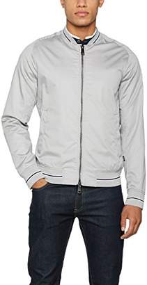 Armani Jeans Men's Slim Fit Racer Jacket with Eagle Embroidery