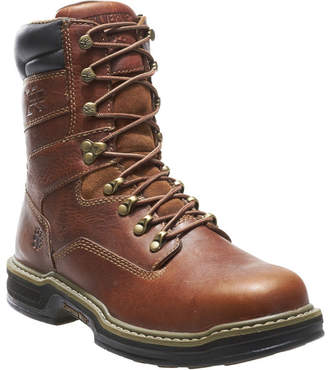 Wolverine Mens Raider Slip Resistant Steel Toe Work Boots Lace-up