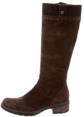 Aquatalia Wingtip Knee-High Boots