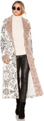 House of Harlow x REVOLVE Margeaux Coat with Faux Fur $768 thestylecure.com