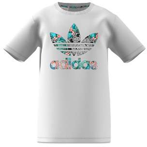 adidas Girls' Printed-Trefoil Tee - Big Kid
