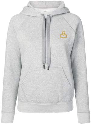 Etoile Isabel Marant embroidered logo hoodie