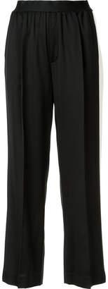 ASTRAET side stripe straight trousers