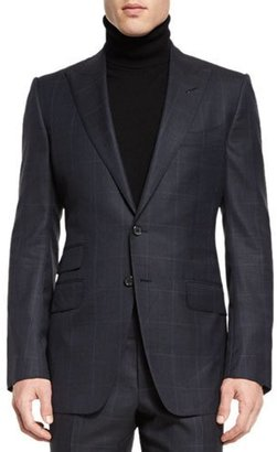 TOM FORD O'Connor Base Prince of Wales Two-Piece Suit, Navy $3,990 thestylecure.com