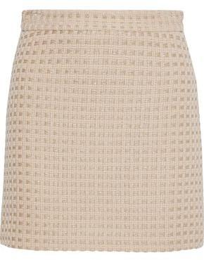 Milly Modern Metallic Wool-Blend Tweed Mini Skirt