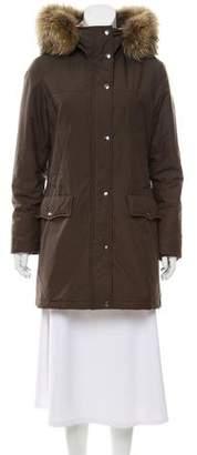 Burberry Fur-Trimmed Parka Jacket