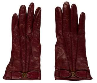 Tory Burch Leather Cashmere-Trimmed Gloves