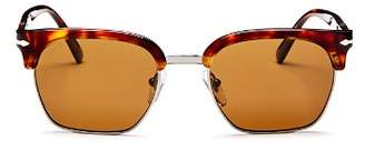 Persol Men's Low Base Polarized Square Sunglasses, 53mm