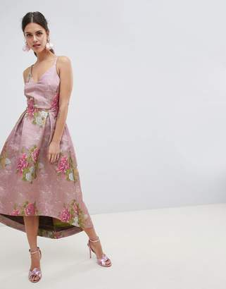 Asos Edition EDITION Beautiful Floral Jacquard Midi Prom Dress