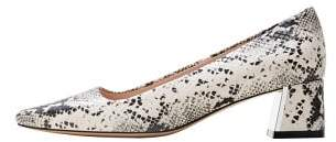 MANGO Snakeskin print heeled shoes
