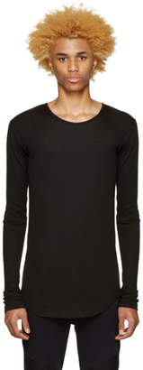 Balmain Black Ribbed T-Shirt