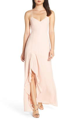 LuLu*s Luxurious Love Lace-Up Back Gown