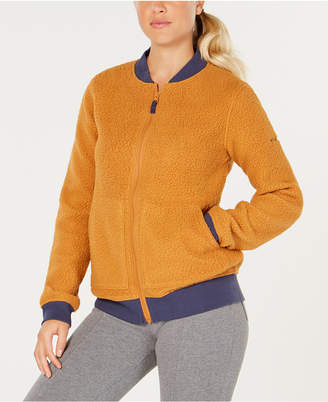 Columbia Feeling Frosty Fleece Knit-Trim Jacket