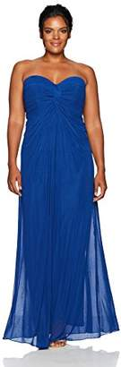 Cambridge Silversmiths The Collection Women's Plus-Size Sweetheart Neckline Stretch Tulle Dress