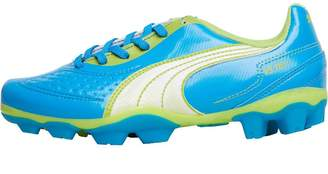 Puma Junior V5.11 R MG Multiple Artificial Grass Football Boots Atomic Blue White/Safety Yellow