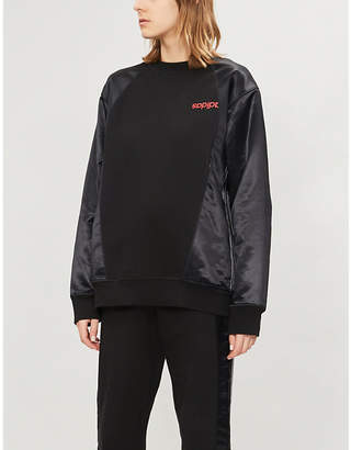 Alexander Wang Adidas X Logo-print cotton and satin sweatshirt